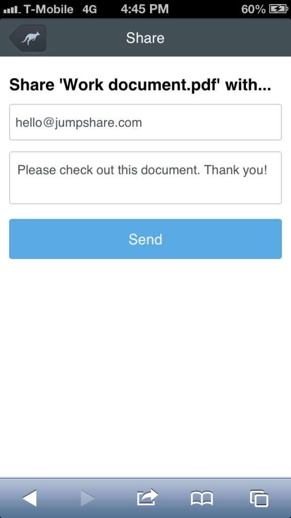 Jumpshare Mobile Share Files