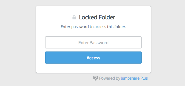 Jumpshare Plus Password Protection
