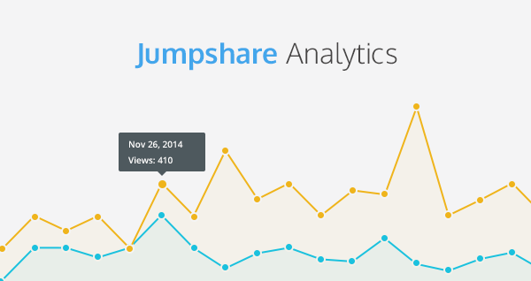 Jumpshare Analytics banner