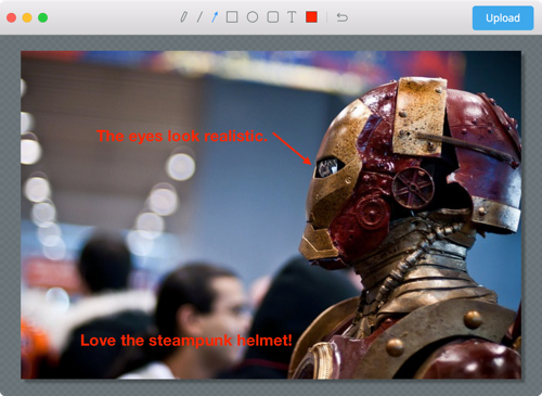 Annotate any image, not just screenshots